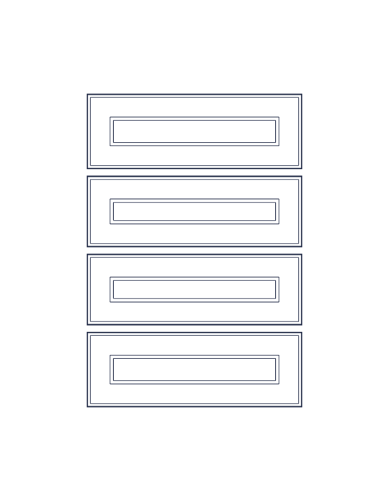 Individual drawer fronts