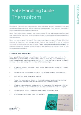 Dezignatek Safe Handling Instructions Thermoform