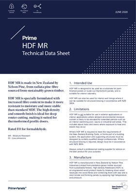 Prime HDF MR Technical Data Sheet